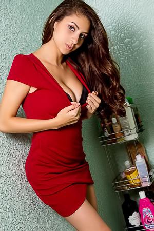 Nina North i ntight sexy dress