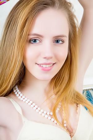 Stripping shaven angel Belonka