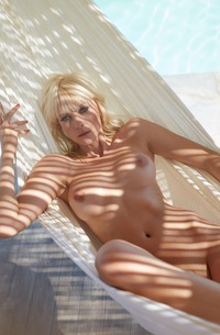 German Sarah Domke Relaxing On Yacht