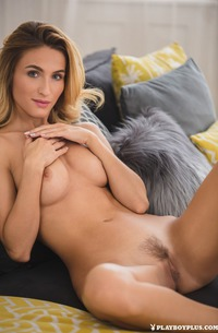 Playmate Cara Mell With Natural Hairy Pussy