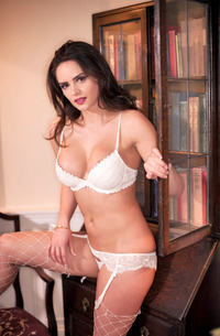 Adele Taylor - White Fishnet Stockings