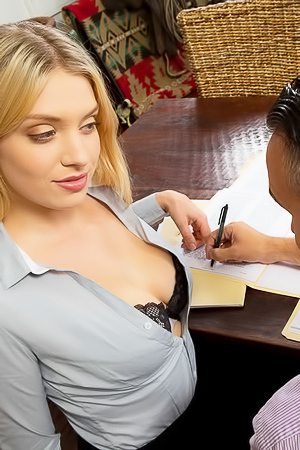 Porn in office with beautiful Giselle Palmer
