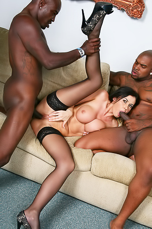 Eva Karera in interracial orgy