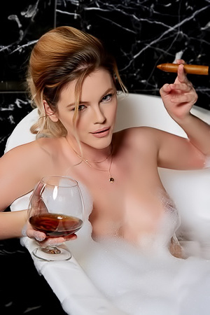 Ora Young gets wet, wild, and steamy inn a bubble bath