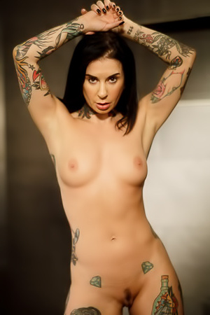 Tattooed Babe Joanna Angel Naked