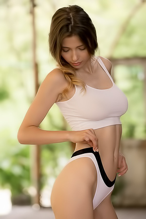 Extra Hot Busty Nymph Mila Azul