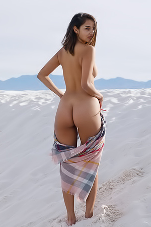 Alejandra Cobos Showing Tits And Pussy In Desert