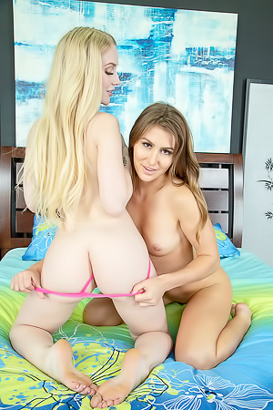 Paige Owens and Emma Starletto can not wait to strip out of their panties