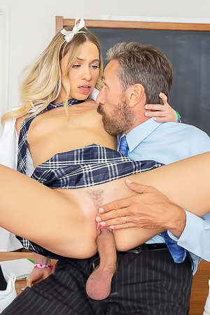 Schoolgirl Khloe Kapri Gets Fucked By Teacher