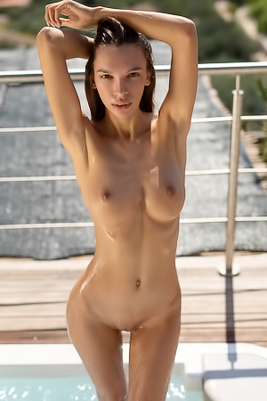 Tall Babe Alina Bathe at the Top