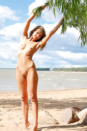 Marta I Shapely Teen Outdoor