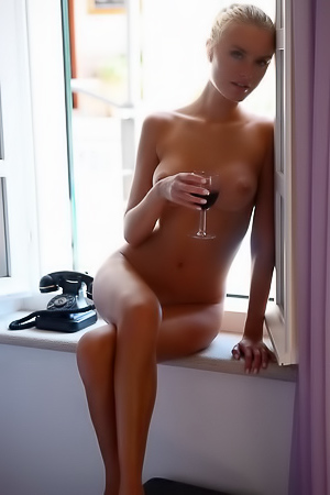 Alberte Valentine Strips Naked By The Window